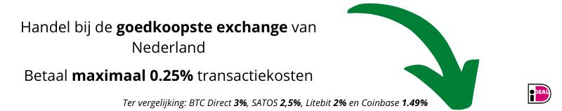 Handel bij de goedkoopste exchange
